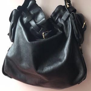Large Kooba Handbag w Shoulder Strap Gold Hardware